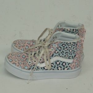 YOUTH VANS OFF THE WALL HIGH TOP SHOES